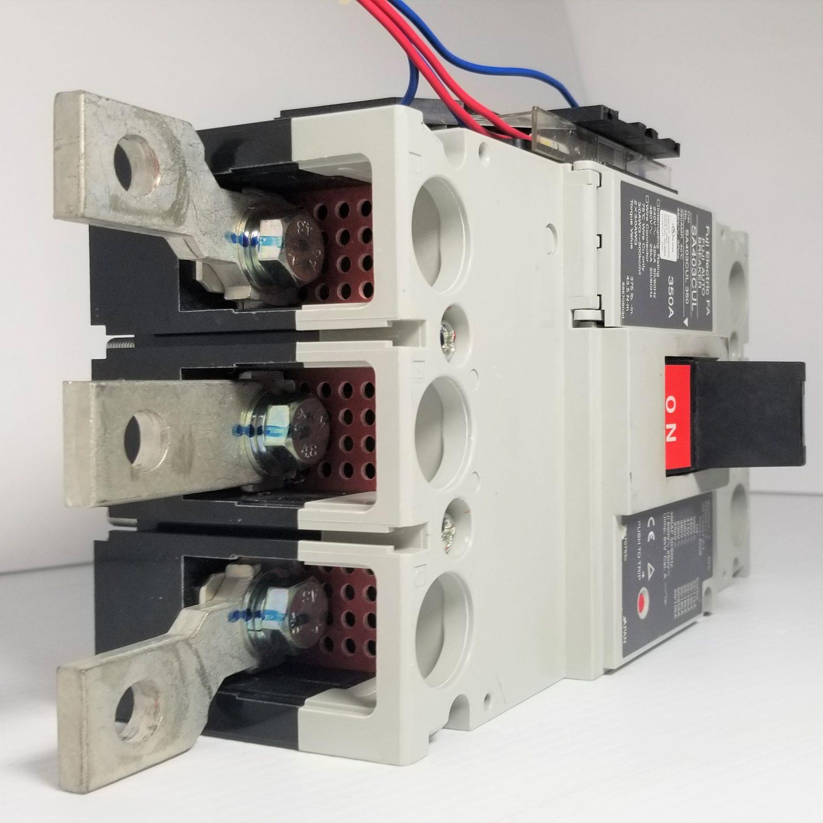 Fuji Electric SA403CUL Circuit Breaker, 350-Amp 480V 3-Pole