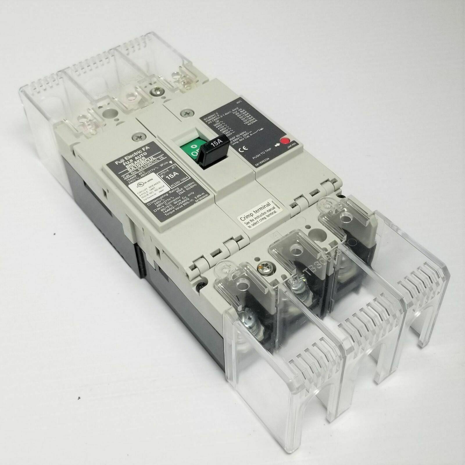 Fuji SA103RCUL Circuit Breaker, 60-Amp